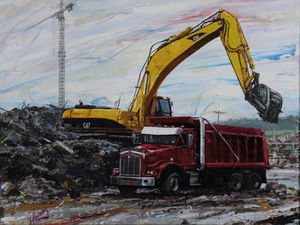 excavator-with-truck